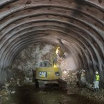 <p>トンネル掘削状況<br />平成28年2月末</p>