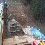 <p>橋の基礎掘削状況<br />平成28年2月末</p>
