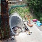 <p>橋脚の基礎掘削状況<br />平成28年5月31日</p>
