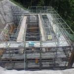 <p>橋台施工状況<br />平成28年6月末日</p>