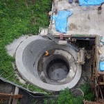 <p>橋脚の基礎掘削状況<br /> 平成28年7月1日</p>