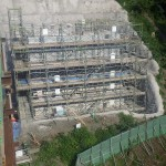 <p>橋台施工状況<br />平成28年7月末日</p>